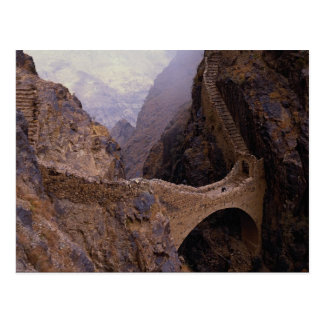 Shahara Bridge, 9000 ft. chasm, Yemen Postcard