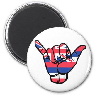 Shaka Hawaii Flag Magnet