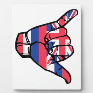 Shaka Hawaii Flag Plaque