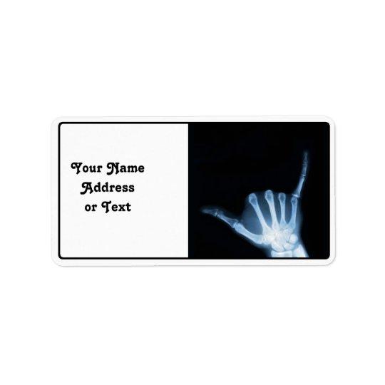 Shaka Sign X-Ray (Hang Loose)