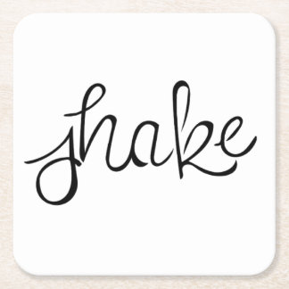 Shake Coaster - Handwritten