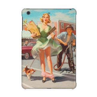 Shake down funny retro pinup girl iPad mini cover