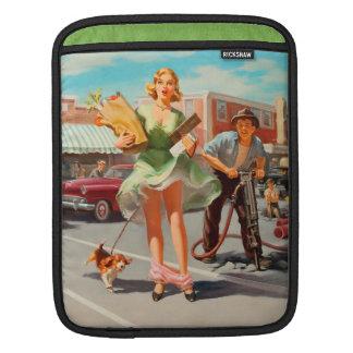 Shake down funny retro pinup girl iPad sleeve