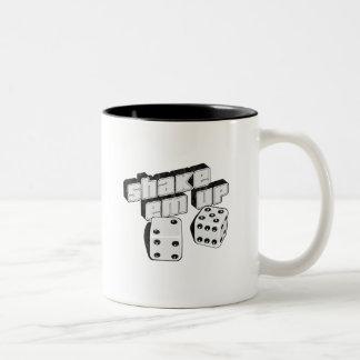 shake em up - dice Two-Tone coffee mug