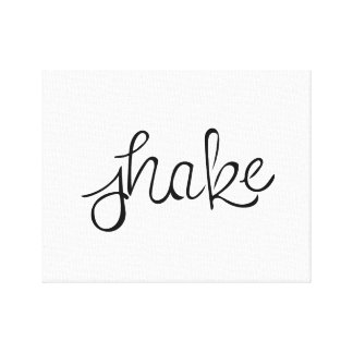Shake - Handwriting - Barre Canvas Print