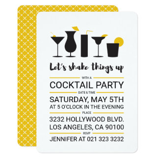 Shake it up Cocktail Party Card
