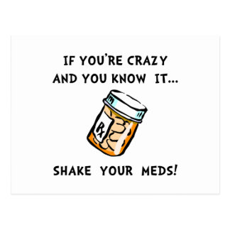 Shake Meds Postcard