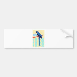 Shake Rattle and Roll Macaw Bumper Sticker