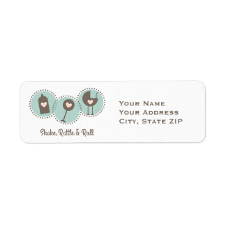 Shake Rattle and Roll Return Address Label