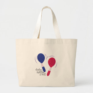 Shake Rattle & Roll Large Tote Bag