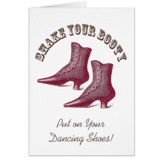Shake Your (Victorian) Booty - Dance Invitation