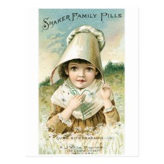 Shaker Family Pills Postcard