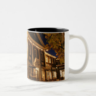 Shaker Square at Night - 1 Two-Tone Coffee Mug
