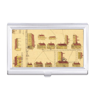 SHAKER VILLAGE MAP, 1849 BUSINESS CARD CASES
