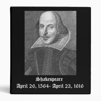 Shakespeare7, April 26, 1564- April 23, 1616, S... Vinyl Binder