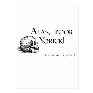 Shakespeare Alas Poor Yorick Postcard