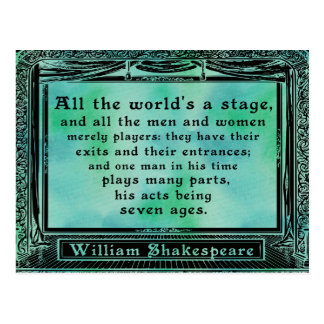 Shakespeare - All the world's a stage postcard