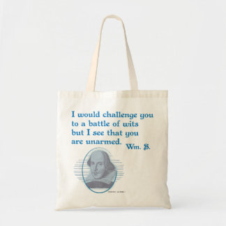 Shakespeare Battle of Wits Tote Bag