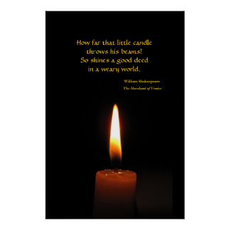 Shakespeare Candle Flame Quotation Poster
