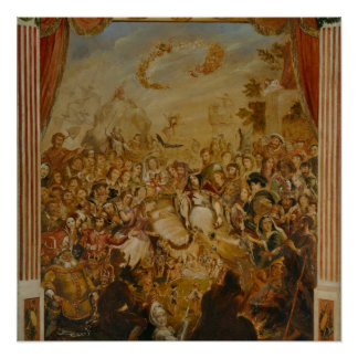 Shakespeare Characters by Cruikshank Poster