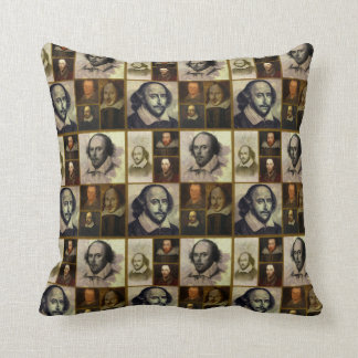 Shakespeare Collage Throw Pillow
