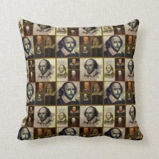 Shakespeare Collage Throw Pillow