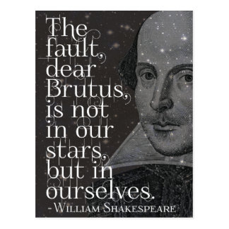 Shakespeare - Dear Brutus quote postcard