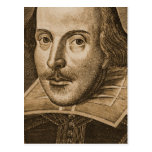 Shakespeare Droeshout Engravings Postcards