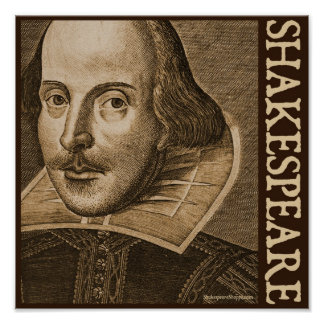 Shakespeare Droeshout Engravings Poster