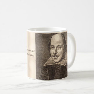 Shakespeare First Folio portrait - with Ben Jonson Coffee Mug