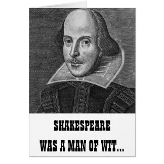Shakespeare Funny Birthday Card