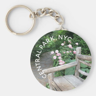 Shakespeare Garden Bench Roses Central Park NYC Keychain