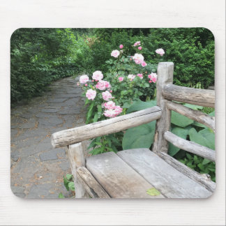 Shakespeare Garden Bench Roses Central Park NYC Mouse Pad