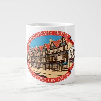 Shakespeare Hotel, Stratford on Avon Luggage Label Jumbo Mug