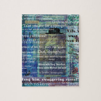 Shakespeare humorous Insults Jigsaw Puzzle