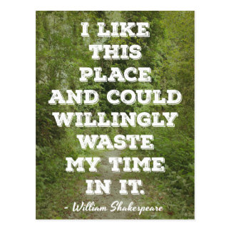 Shakespeare 'I like this place...' Quote Postcard