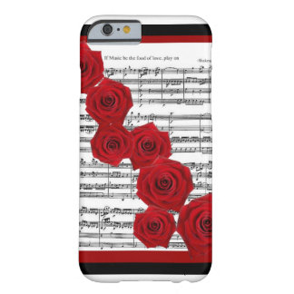 SHAKESPEARE - IF MUSIC BE THE FOOD OF LOVE PLAY ON BARELY THERE iPhone 6 CASE
