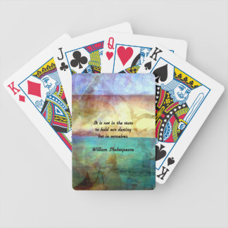 Shakespeare Inspirational Quote About Destiny Bicycle Playing Cards