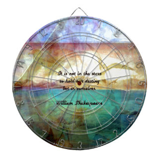 Shakespeare Inspirational Quote About Destiny Dartboard