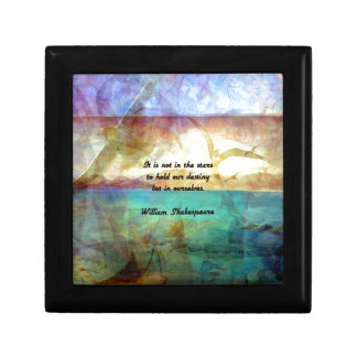 Shakespeare Inspirational Quote About Destiny Gift Box