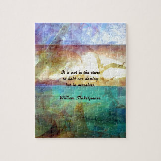 Shakespeare Inspirational Quote About Destiny Jigsaw Puzzle