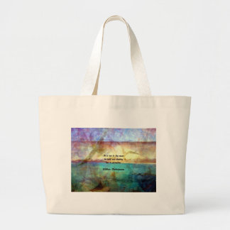 Shakespeare Inspirational Quote About Destiny Large Tote Bag