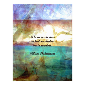 Shakespeare Inspirational Quote About Destiny Letterhead
