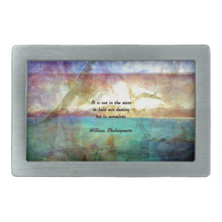 Shakespeare Inspirational Quote About Destiny Rectangular Belt Buckles