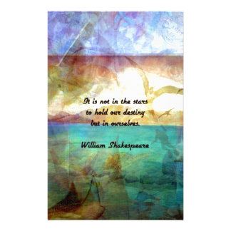 Shakespeare Inspirational Quote About Destiny Stationery