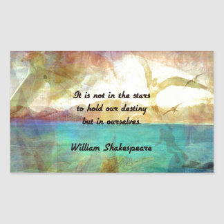 Shakespeare Inspirational Quote About Destiny Sticker