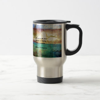 Shakespeare Inspirational Quote About Destiny Travel Mug