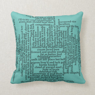Shakespeare Insults List Funny Theatre Throw Pillow