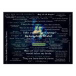 Shakespeare insults quotes poster