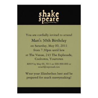 Shakespeare - it s an Elizabethan thing Custom Invites